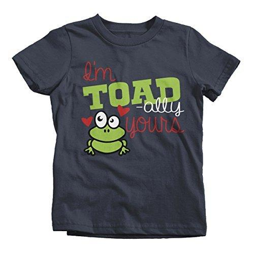 Shirts By Sarah Youth Toadally Yours Kids Funny Frog Valentines Day T-Shirt Boy's Girl's-Shirts By Sarah