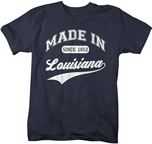Shirts By Sarah Men's Made In Louisiana T-Shirt Since 1812 State Pride Shirts-Shirts By Sarah