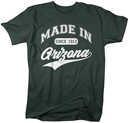 Shirts By Sarah Men's Made In Arizona T-Shirt Since 1912 State Pride Shirts-Shirts By Sarah