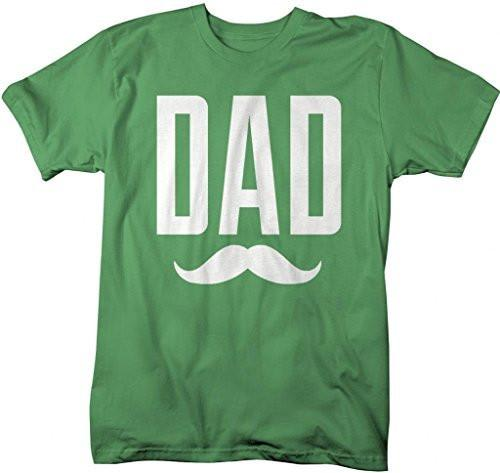 Shirts By Sarah Men's Funny Father's Day Dad Mustache T-Shirt-Shirts By Sarah