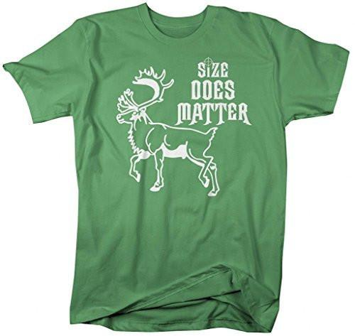 Shirts By Sarah Men's Funny Hunting Size Matters Moose T-Shirt Hunter-Shirts By Sarah
