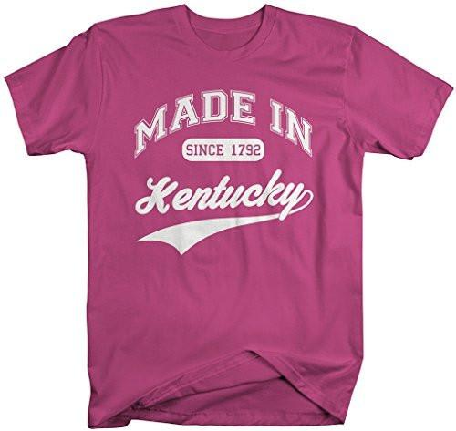 Shirts By Sarah Men's Made In Kentucky T-Shirt Since 1792 State Pride Shirts-Shirts By Sarah