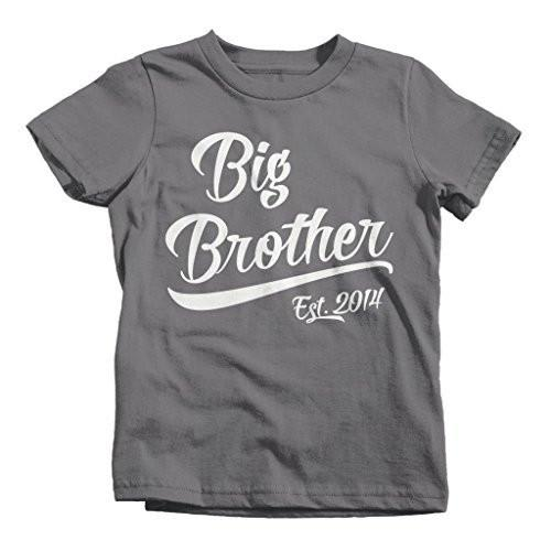 Shirts By Sarah Boy's Big Brother Est. 2014 T-Shirt Promoted To Shirts-Shirts By Sarah