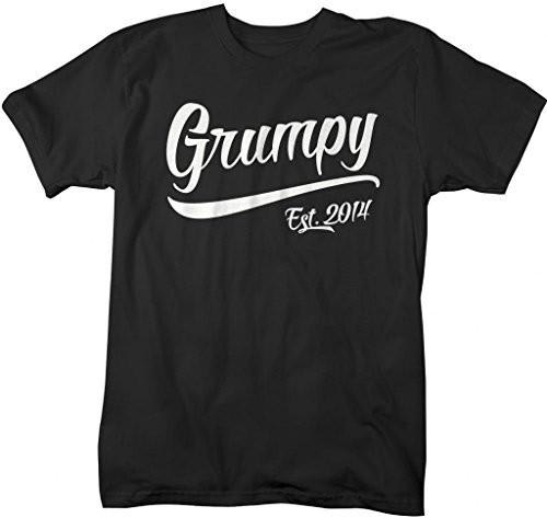 Shirts By Sarah Men's Funny Grumpy Est. 2014 T-Shirt Father's Day Grandpa Shirts-Shirts By Sarah