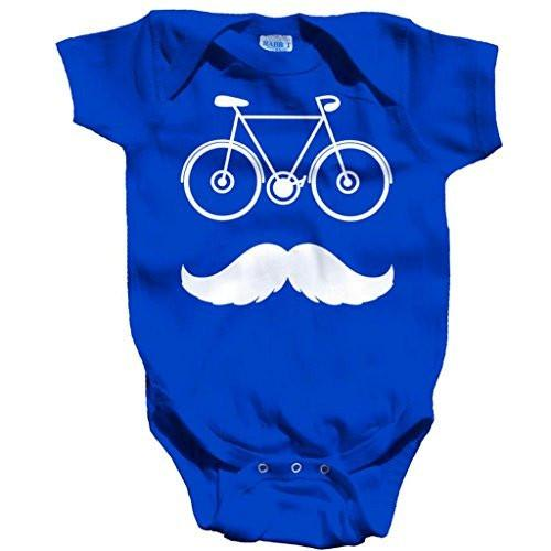 Shirts By Sarah Baby Cute Hipster Bicycle Creeper One Piece Bodysuit-Shirts By Sarah