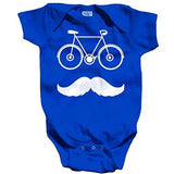 Shirts By Sarah Baby Cute Hipster Bicycle Creeper One Piece Bodysuit - Royal Blue / 12 Months - 5