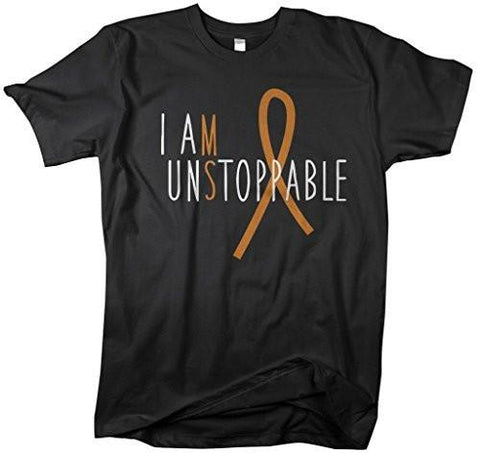 Shirts By Sarah Men's Unisex Multiple Sclerosis MS Unstoppable T-Shirt - Black / XX-Large - 1