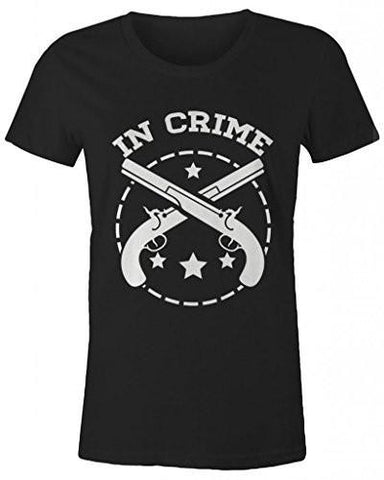 Shirts By Sarah Women's Best Friends Partners In Crime T-Shirts - Crime - Black / XX-Large - 2