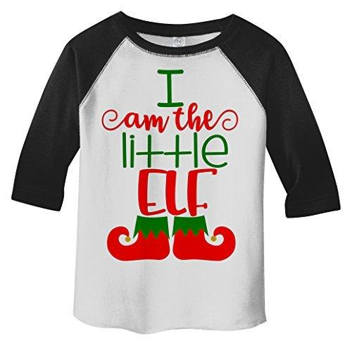 Shirts By Sarah Toddler Christmas I'm The Little Elf T-Shirt Matching Sibling 3/4 Sleeve Shirt-Shirts By Sarah