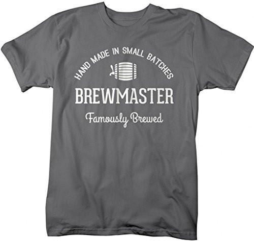 Shirts By Sarah Men's Famously Brewed Brewmaster Home Brew T-Shirt-Shirts By Sarah