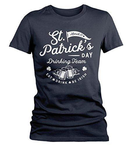 Shirts By Sarah Women's ST. Patrick's Drinking Team T-Shirt Beer Vintage Tee-Shirts By Sarah