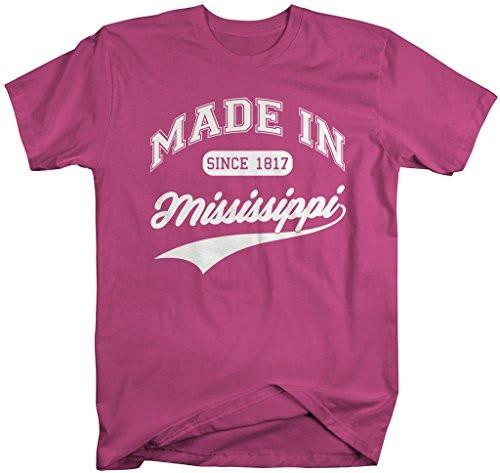 Shirts By Sarah Men's Made In Mississippi T-Shirt Since 1817 State Pride Shirts-Shirts By Sarah