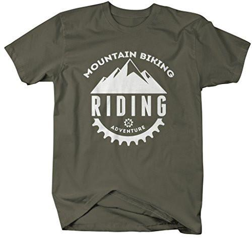 Shirts By Sarah Men's Mountain Biking T-shirt Riding Adventure Shirts-Shirts By Sarah