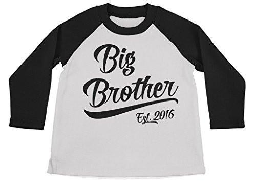 Big Brother EST.2016 New Personalised Baby T-shirt Tees Clothing White