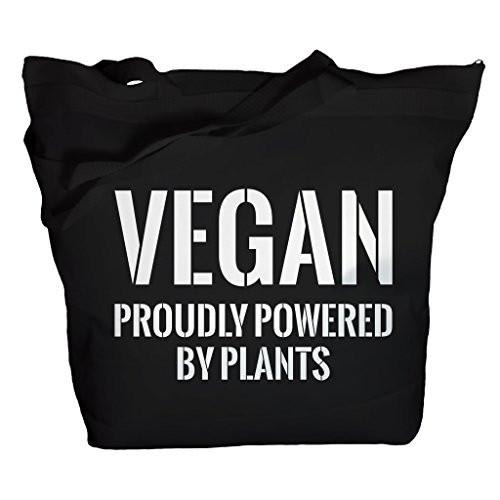 Shirts By Sarah Tote Bag Funny Vegan Powered By Plants Bags-Shirts By Sarah