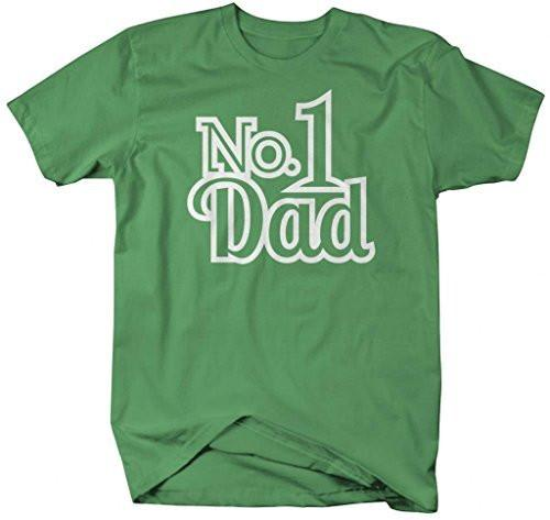 Shirts By Sarah Men's No. 1 Dad T-Shirt Father's Day Shirts-Shirts By Sarah