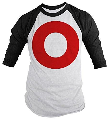Shirts By Sarah Unisex Matching Valentine's Day Couples 3/4 Sleeve Shirts XO (O Half)-Shirts By Sarah