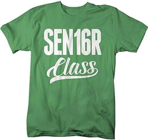Shirts By Sarah Men's Sen16r Class T-Shirt Senior Class Of 2016 Shirts-Shirts By Sarah
