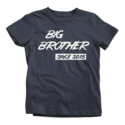 Shirts By Sarah Boy's Big Brother Since 2015 T-Shirt Brother Promoted To-Shirts By Sarah
