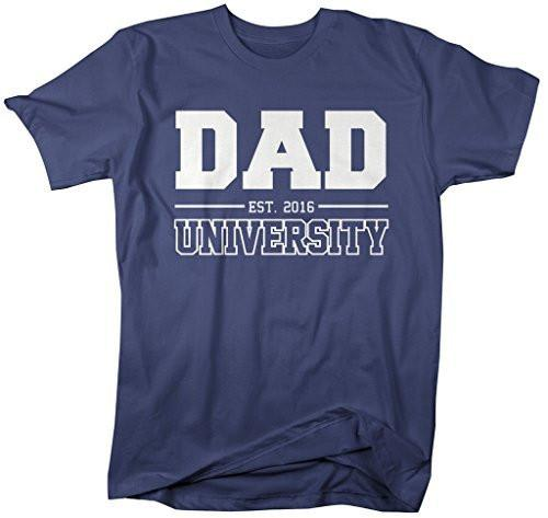 Shirts By Sarah Men's Dad University Est. 2016 T-Shirt Father's Day Shirts-Shirts By Sarah