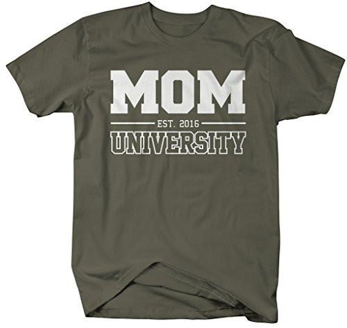 Shirts By Sarah Women's Unisex Mom University Est. 2016 T-Shirt Mother's Day Shirts-Shirts By Sarah