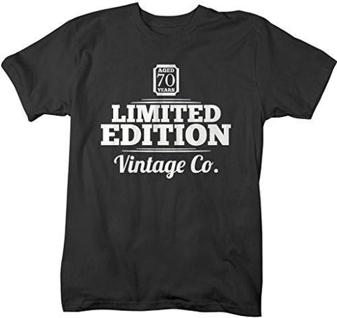 Shirts By Sarah Men's 70th Birthday T-Shirt Limited Edition Vintage Shirts-Shirts By Sarah
