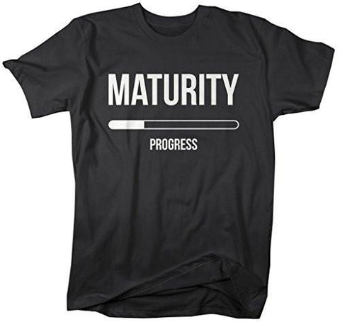 Shirts By Sarah Men's Maturity In Progress Funny T-Shirt Humor-Shirts By Sarah