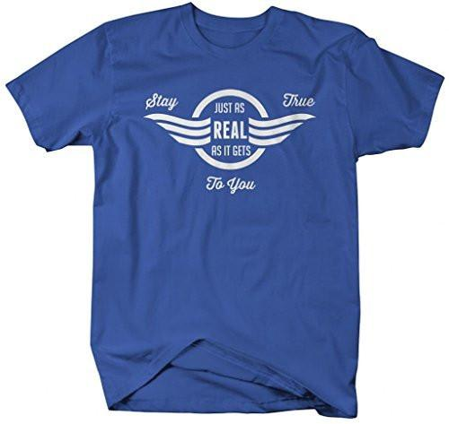 Shirts By Sarah Men's Inspirational Real As It Gets T-Shirt Stay True Hipster Shirts-Shirts By Sarah