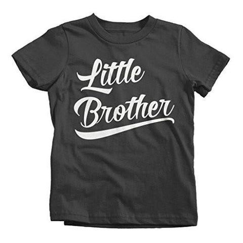Shirts By Sarah Boy's Little Brother T-Shirt Sibling Shirts Matching Tees-Shirts By Sarah