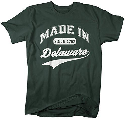 Shirts By Sarah Men's Made In Delaware T-Shirt Since 1787 State Pride Shirts-Shirts By Sarah