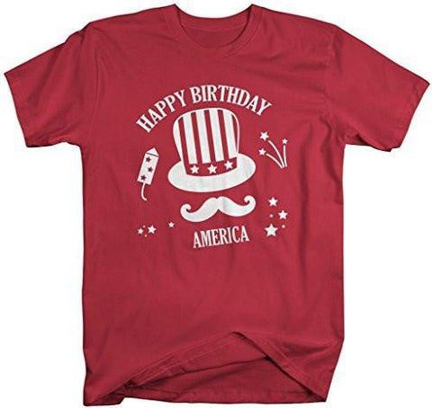 Shirts By Sarah Mens Patriotic 4th July T Shirt Happy Birthday America Hipster