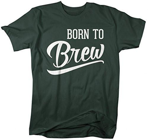 Shirts By Sarah Men's Born To Brew T-Shirt Brewing Shirts For Brew Master-Shirts By Sarah