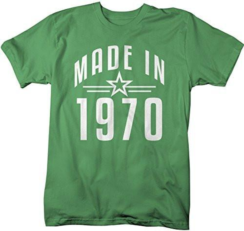 Shirts By Sarah Men's Made In 1970 Birthday T-Shirt Retro Star Custom Shirts-Shirts By Sarah