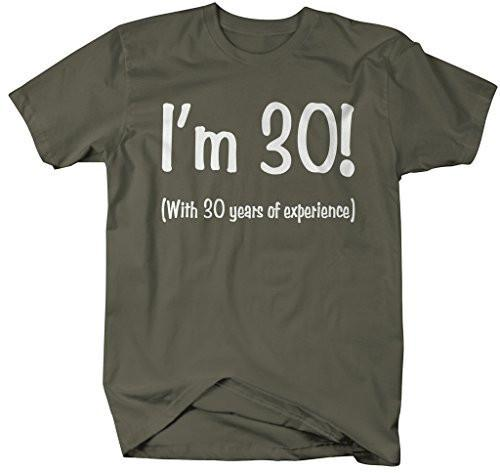 Shirts By Sarah Men's Funny 60th Birthday T-Shirt 30 With 30 Years Experience Shirt-Shirts By Sarah