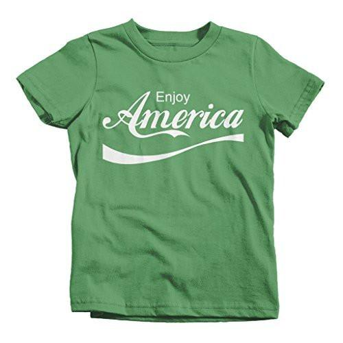Shirts By Sarah Youth Boy's Girl's Enjoy America Patriotic T-Shirts 4th July Shirts-Shirts By Sarah