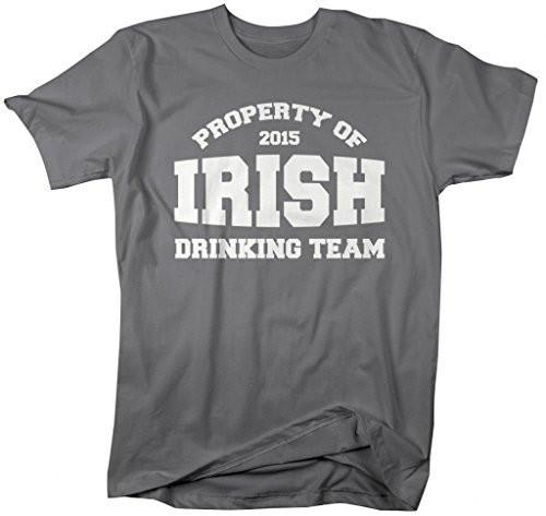 Shirts By Sarah Men's Property Of Irish Drinking Team St. Patrick's Day T-Shirt-Shirts By Sarah
