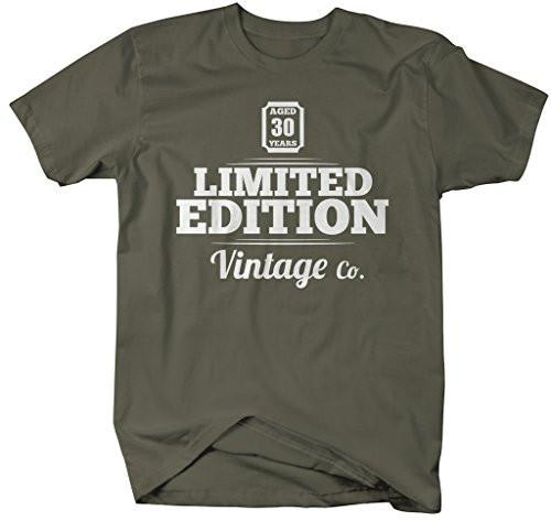 Men's 30TH Birthday T-Shirt Limited Edition Vintage Shirts-Shirts By Sarah