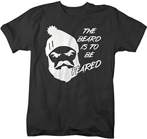Shirts By Sarah Men's Funny Beard To Be Feared Angry Lumberjack T-Shirt-Shirts By Sarah