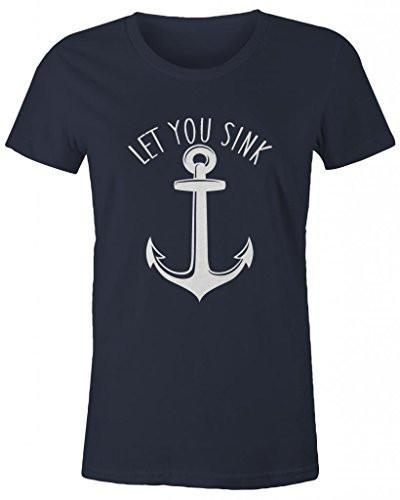 Shirts By Sarah Women's Best Friends Couples T-Shirts I Will Never Let You Sink (Let You Sink Half)-Shirts By Sarah