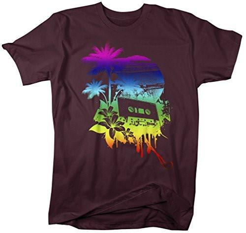 Shirts By Sarah Men's Grunge Urban Music Graphic T-Shirt Cassette Shirt-Shirts By Sarah