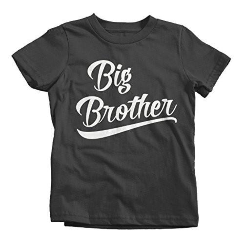Shirts By Sarah Boy's Big Brother T-Shirt Sibling Shirts Matching Tees-Shirts By Sarah
