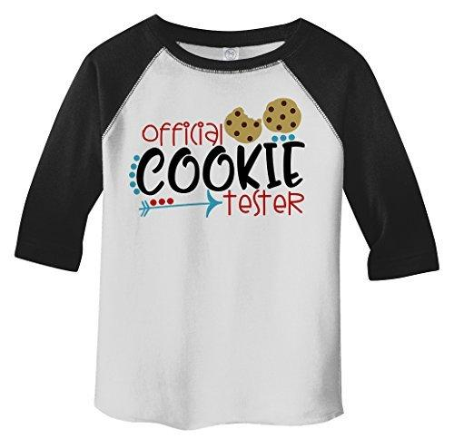 Shirts By Sarah Toddler Official Cookie Tester 3/4 Sleeve Baseball Raglan-Shirts By Sarah
