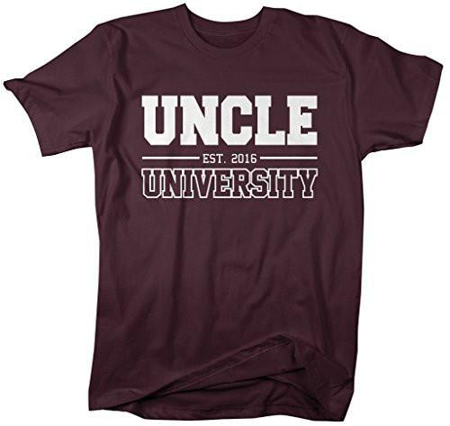 Shirts By Sarah Men's Uncle University Est. 2016 T-Shirt Father's Day Shirts-Shirts By Sarah