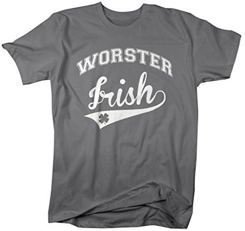 Shirts By Sarah Men's St. Patrick's Day City T-Shirt Worster Irish MA Shirts-Shirts By Sarah