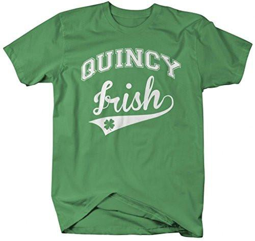 Shirts By Sarah Men's St. Patrick's Day City T-Shirt Quincy Irish MA Shirts-Shirts By Sarah