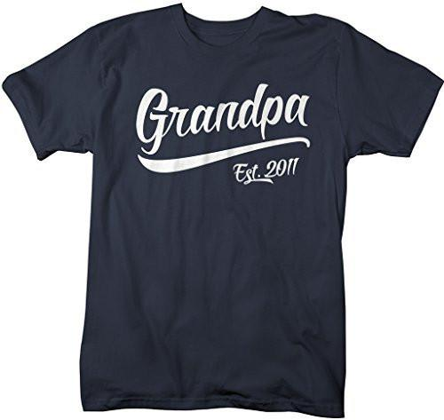 Shirts By Sarah Men's Grandpa Est. 2011 T-Shirt Fathers Day Shirts-Shirts By Sarah