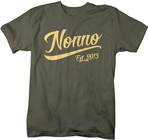 Shirts By Sarah Men's Nonno Est. 2013 T-Shirt Fathers Day Shirts-Shirts By Sarah