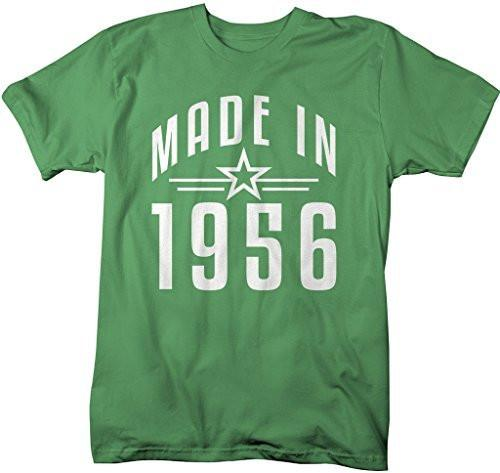 Shirts By Sarah Men's Made In 1956 Birthday T-Shirt Retro Star Custom Shirts-Shirts By Sarah