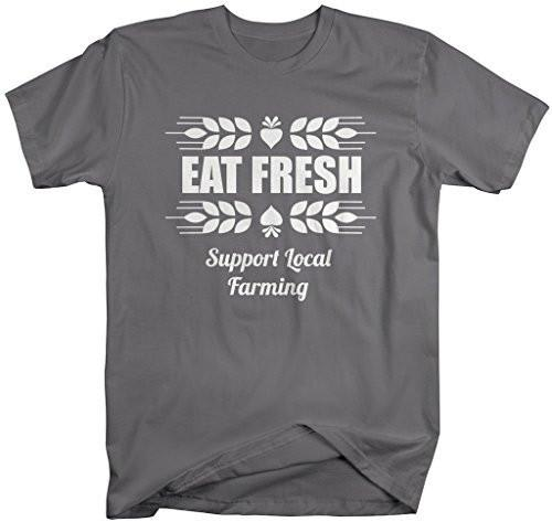 Shirts By Sarah Men's Support Local Farming T-Shirt Fresh Food Shirts-Shirts By Sarah