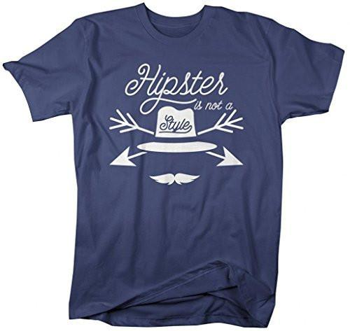 Shirts By Sarah Men's Funny Hipster Is Not A Style T-Shirt Ironic Shirts-Shirts By Sarah